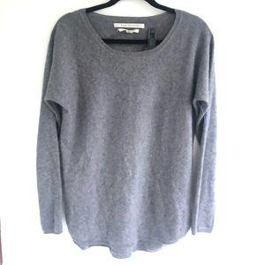 Max Studio 100% Cashmere Long Sleeve Gray Sweater